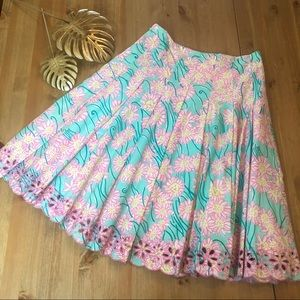 Lily Pulitzer ALine Pleated Skirt Floral 2